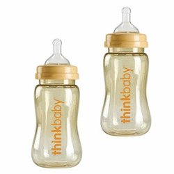 Thinkbaby 9 oz Twin pack Baby Bottles BPA FREE **IN STOCK**