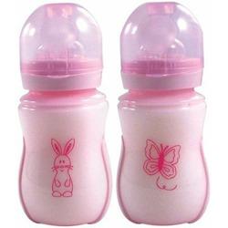 Nurtria BPA Free Wideneck Bottle, Pink, 8 Ounce, 2 Pack