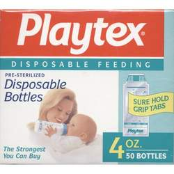 TWO BOXES PLAYTEX ULTRASEAL CURVED DISPOSABLE LINERS 4 OZ
