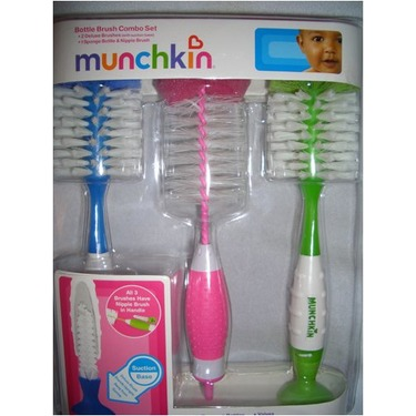 Munchkin Bottle Brush Compbo Set- 2 Deluxe and 1 Sponge Brush