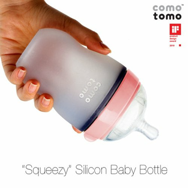 Comotomo Natural Feel Baby Bottle Single Pack, Pink, 250ml