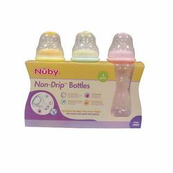 Nuby Non-drip Standard Neck BPA Free Bottles 3pk 11oz