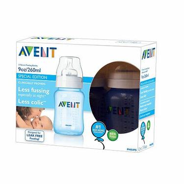 Avent BPA Free 9 Oz Polypro Bottles - 3 Pack - Blue