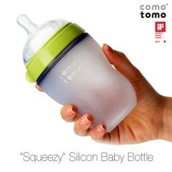 Comotomo Natural Feel Baby Bottle Single Pack, Green, 250ml