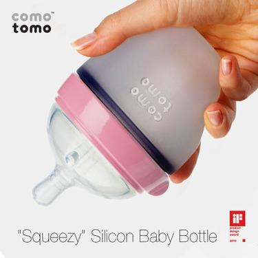 Comotomo Natural Feel Baby Bottle Single Pack, Pink, 150ml