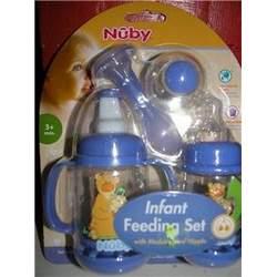 Nuby BPA FREE Infant Feeder Feeding Bottle Set