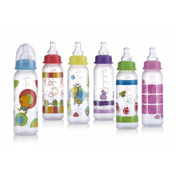 Nuby Clear Leak Proof Bottle, Colors May Vary, 8 Ounce