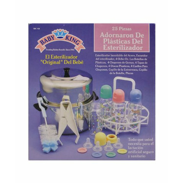 BPA FREE 25 Piece Decorated Plastic Bottle Sterilizer Kit by Baby King - one color, one size