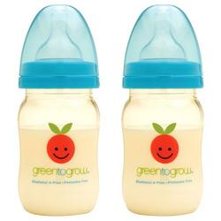 Green To Grow 2 Baby Bottle 5oz wide neck