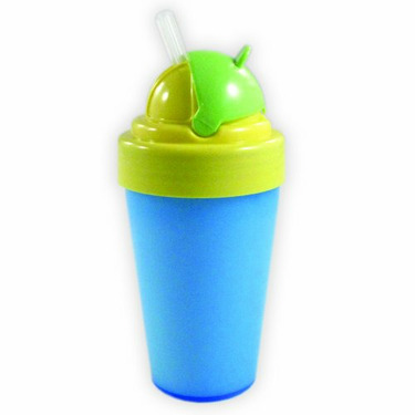 Nurtria BPA Free Flip Top Straw Cup, Boy, 9 Ounce