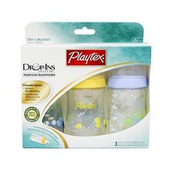 Playtex Baby Drop-Ins Premium Decorated Nurser 4 OZ - 3 Pack: Boy Colors
