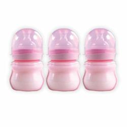 Nurtria BPA Free Wideneck Bottles, Girl, 3 Pack, 4 Ounce