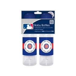 Sports MLB Baby Bottles 2 Pack Safe BPA Free (Chicago Cubs)