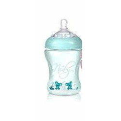 Nuby BPA Free Natural Touch Printed Bottle 10 oz - boy color