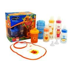 Evenflo - Zoo Friends Decorated Bottle Gift Set, BPA-Free