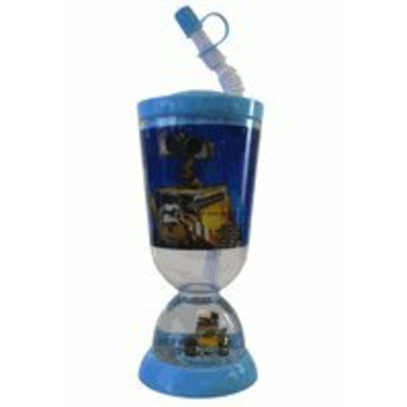 Disney Wall E Sipping Bottle With Flex Straw And Snowglobe