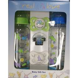 Sassy MAM John Lennon Real Love Baby Gift Set - boy colors
