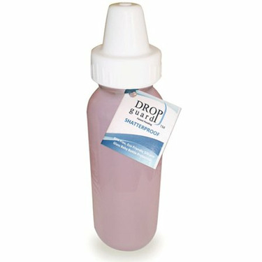 Drop-Guard Silicone Evenflo Pink Glass Baby Bottle 8 Ounce