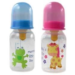 4-oz. BPA Free Baby Bottle (latex nipple), Pink