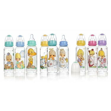Nuby Precious Moments Printed Bottle, 8 Ounce