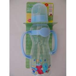 Sesame Street Deluxe Blue Baby Bottle with Handles