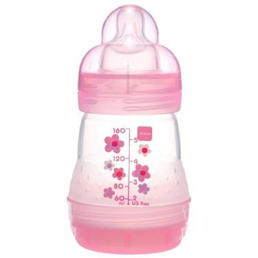 Sassy MAM BPA FREE 5 oz bottle - girl colors