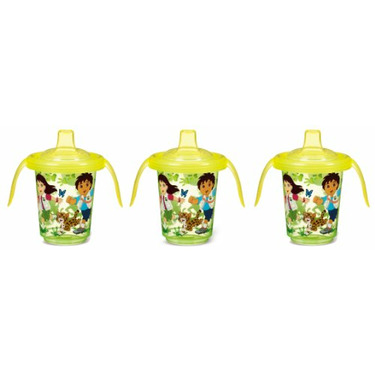 Munchkin Re-Usable Twist Tight Trainer Cup, 3 Pack, Go Diego Go, 8 Ounce