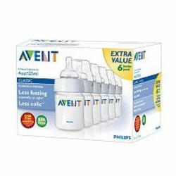 Avent BPA Free 6-Pack Polypropylene Bottles - 4 oz.