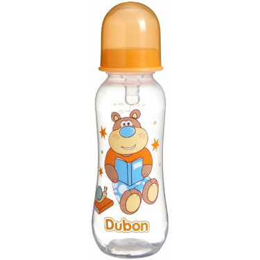 Dubon BPA-Free Feeding Bottle with Variable Flow Nipple, Colors May Vary, 8 Ounce