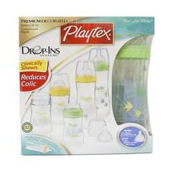Playtex Baby Drop-Ins. Premium Decorated Nurser Gift Set