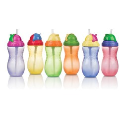Nuby 14 oz Flip-It Leak Proof Straw Bottle