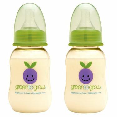 Green To Grow 2 Baby Bottles 5 oz regular neck