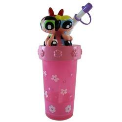 Cartoon Network Powerpuff Girls Bottle - Powerpuff Girls sipping Bottle