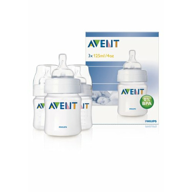 Philips AVENT BPA Free Bottles, 4 Ounce, 3 Pack