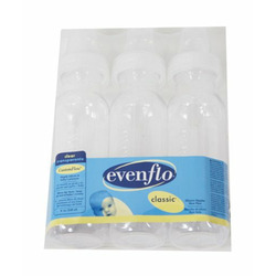 Evenflo 3- Pack 8 OZ. Clear Nursers - clear, one size