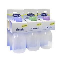 Evenflo Classic Clear Bottles 4 OZ - 6 PK