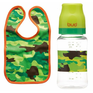 BUD Trooper Baby Bib Bottle