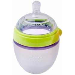 Comotomo Natural Feel Baby Bottle Single Pack, Green, 150ml
