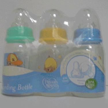 PreciousMoments Bottle Set Boys Color 4 oz BPA FREE