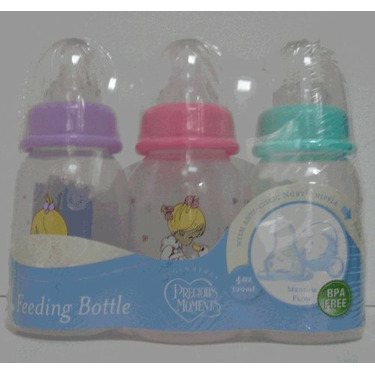 PreciousMoments Bottle Set Girls Color 4 oz BPA FREE