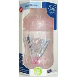 Nuby BPA FREE Natural Nurser SoftFlex 8 oz bottle - girl colors