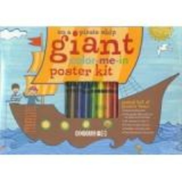 Giant color-me-in Poster Kit: On a Pirate Ship (by Gymboree)