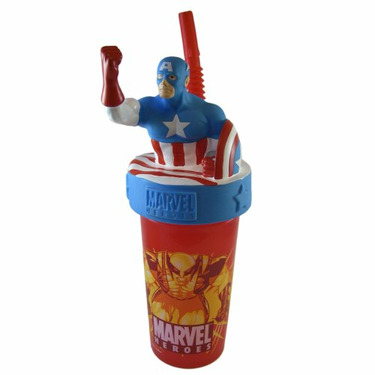 Captain America Sipping Cup - Marvel Heroes Captain America Travel Tumbler