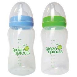 I-Play Green Sprouts 8 oz Feeding Bottle 2 Pack Blue and Green - BPA PVE FREE