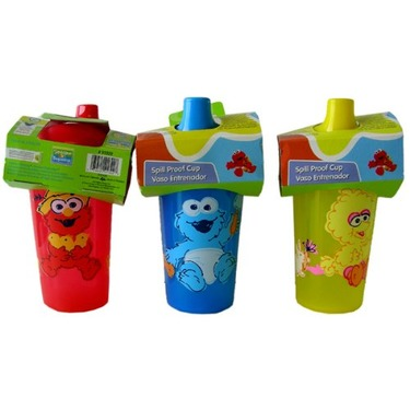 Sesame Street Baby Bottle - Kids Baby Cookie Monster Spill Proof Cup