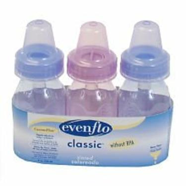 Evenflo Classic Tinted Bottles - BPA Free 3 Pk 4 Oz- 12 /Pack
