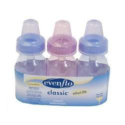 Evenflo Classic Tinted Bottles - BPA Free 3 Pk 4 Oz- 12 /Pack