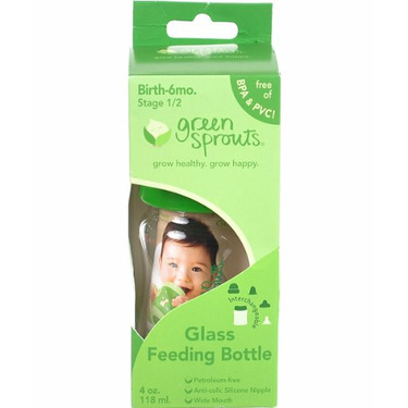 Green Sprouts 2 oz Glass Feeding Bottle - one color, one size