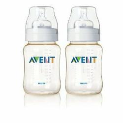 Avent New BPA Free 9 oz. Feedding Bottle 2 Pack