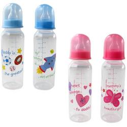 9-oz. BPA Free Baby Bottle (medium flow silicone nipple), Pink - Daddy